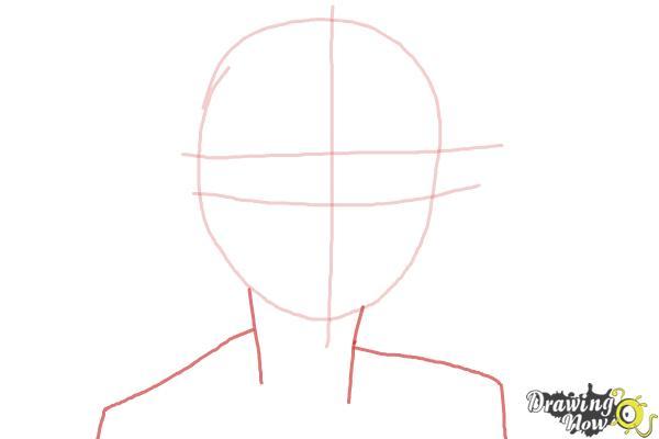 How to Draw Izumo Kamiki from Ao No Exorcist, Blue Exorcist - Step 2