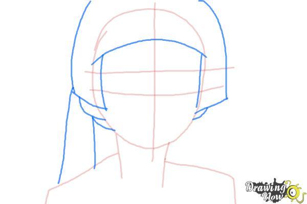 How to Draw Izumo Kamiki from Ao No Exorcist, Blue Exorcist - Step 3