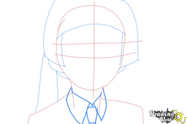 How to Draw Izumo Kamiki from Ao No Exorcist, Blue Exorcist - Step 4