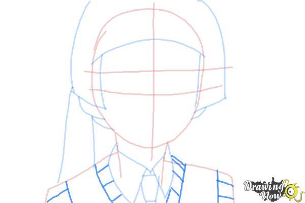 How to Draw Izumo Kamiki from Ao No Exorcist, Blue Exorcist - Step 5