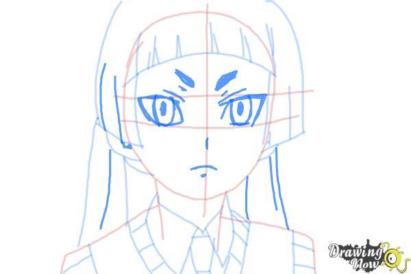 How to Draw Izumo Kamiki from Ao No Exorcist, Blue Exorcist - Step 7