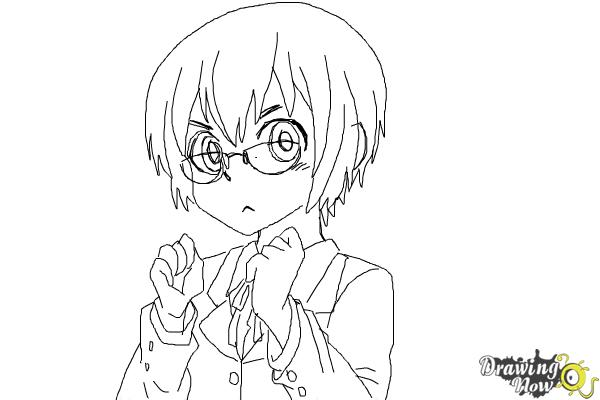 How to Draw Manami Tamura from Oreimo - Step 10