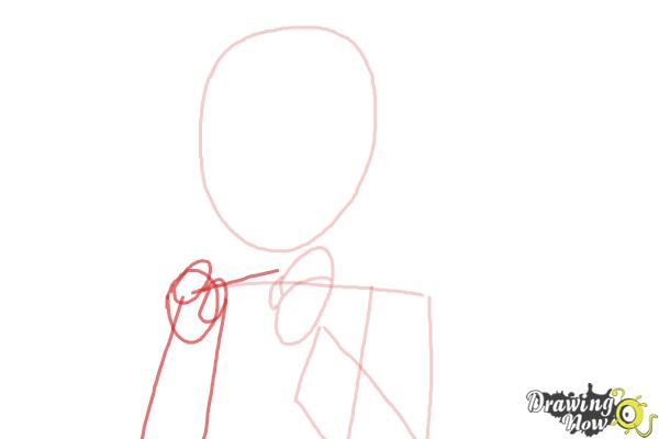 How to Draw Manami Tamura from Oreimo - Step 4