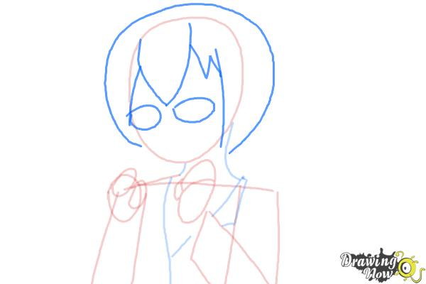 How to Draw Manami Tamura from Oreimo - Step 6