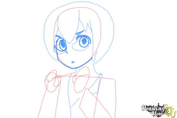 How to Draw Manami Tamura from Oreimo - Step 7