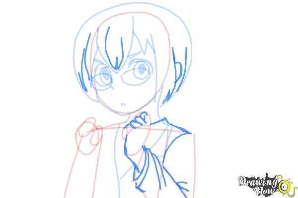 How to Draw Manami Tamura from Oreimo - Step 8
