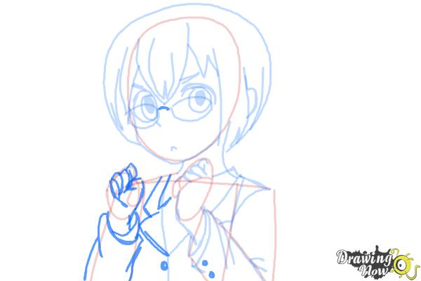 How to Draw Manami Tamura from Oreimo - Step 9