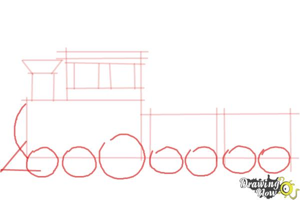 How to Draw a Simple Train - Step 6