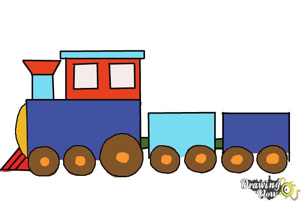 How to Draw a Simple Train - Step 8