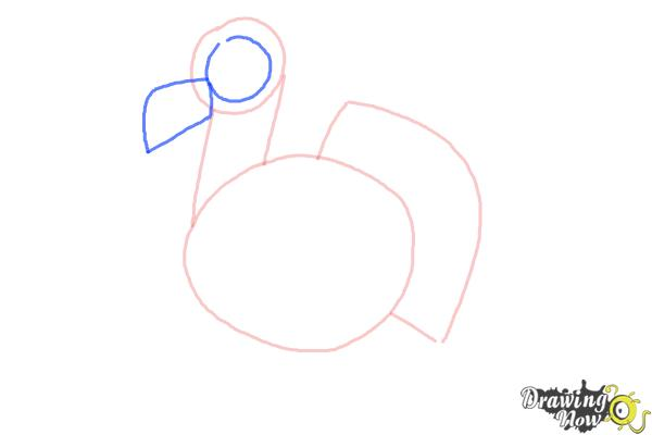 How to Draw a Simple Turkey - Step 4