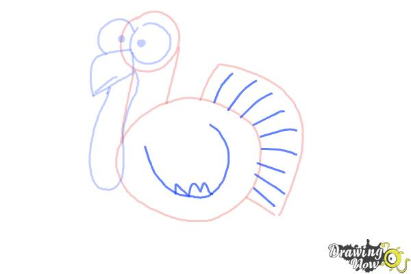 How to Draw a Simple Turkey - Step 7