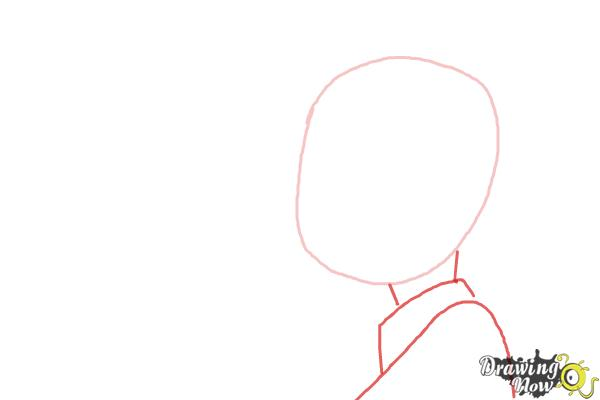 How to Draw Marceline And Marshall Lee Kissing - Step 2