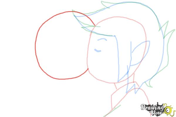 How to Draw Marceline And Marshall Lee Kissing - Step 5