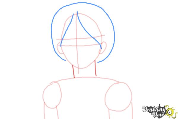How to Draw Canada from Hetalia - Step 4