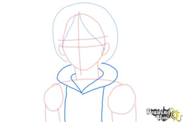 How to Draw Canada from Hetalia - Step 5