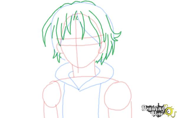 How to Draw Canada from Hetalia - Step 6
