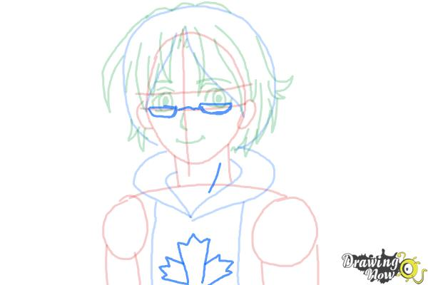 How to Draw Canada from Hetalia - Step 8