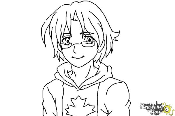 How to Draw Canada from Hetalia - Step 9