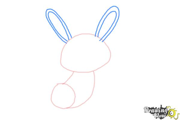 How to Draw a Simple Bunny - Step 3
