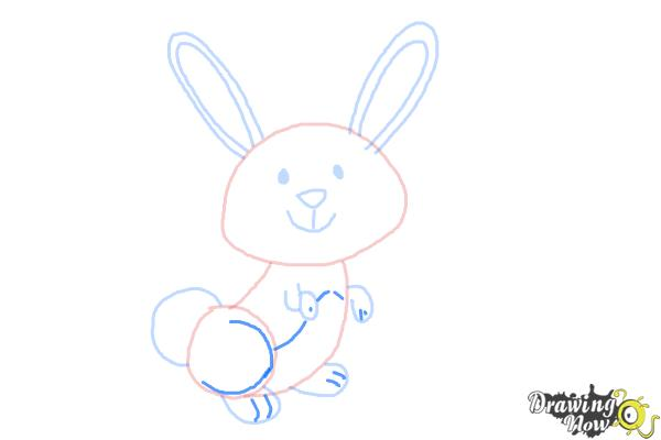 How to Draw a Simple Bunny - Step 7