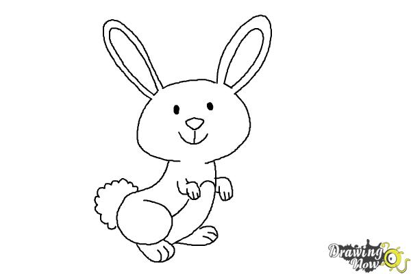 How to draw a simple bunny step 8