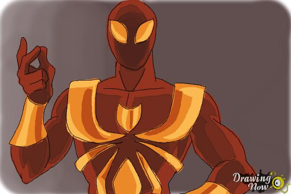 How to Draw Iron Spider Armor - Step 9