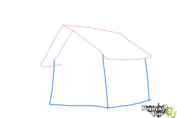 How to Draw a Simple House - Step 3