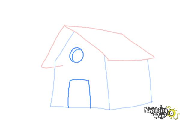 How to Draw a Simple House - Step 4