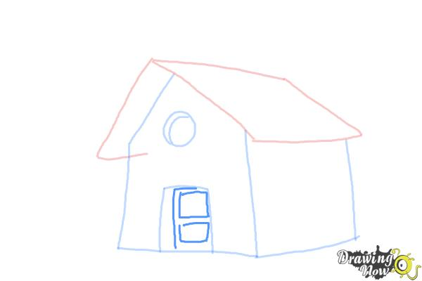 How to Draw a Simple House - Step 5