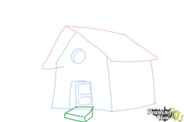 How to Draw a Simple House - Step 6
