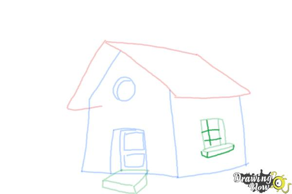 How to Draw a Simple House - Step 8