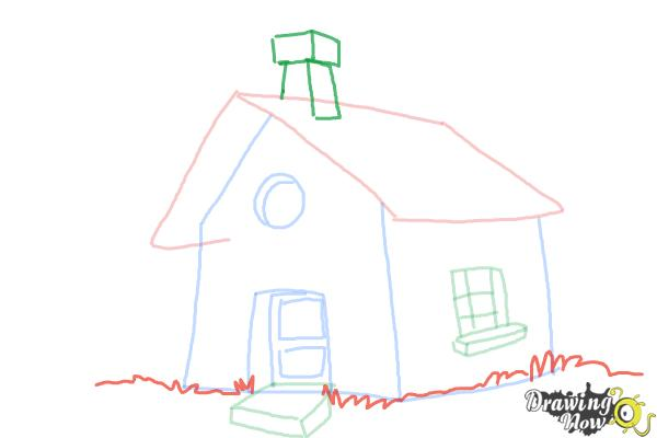 How to Draw a Simple House - Step 9