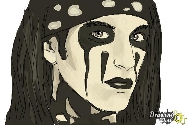 How to Draw Christian Coma - Step 10