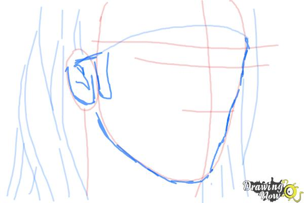How to Draw Christian Coma - Step 5