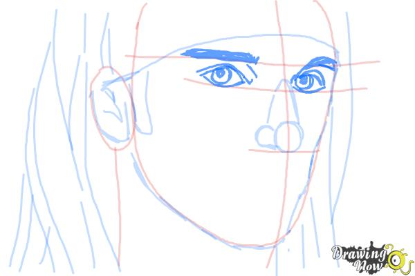 How to Draw Christian Coma - Step 7