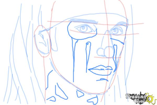 How to Draw Christian Coma - Step 8