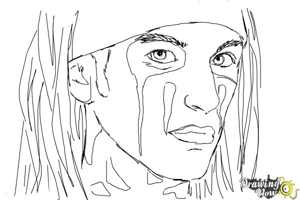 How to Draw Christian Coma - Step 9