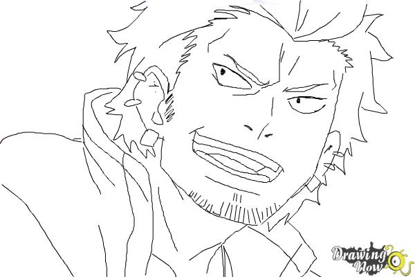 How to Draw Ryuji Suguro, Ban from Ao No Exorcist, Blue Exorcist - Step 10