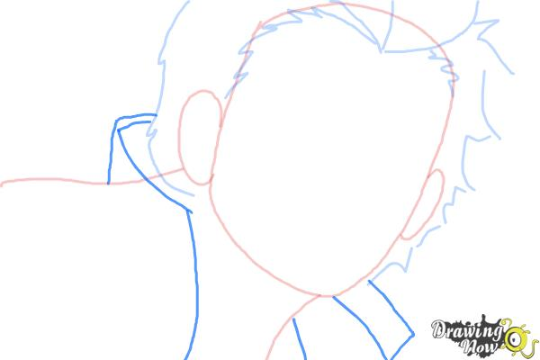 How to Draw Ryuji Suguro, Ban from Ao No Exorcist, Blue Exorcist - Step 4