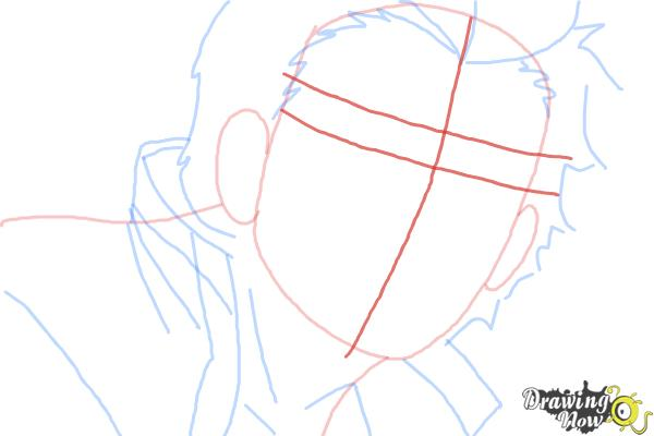 How to Draw Ryuji Suguro, Ban from Ao No Exorcist, Blue Exorcist - Step 6