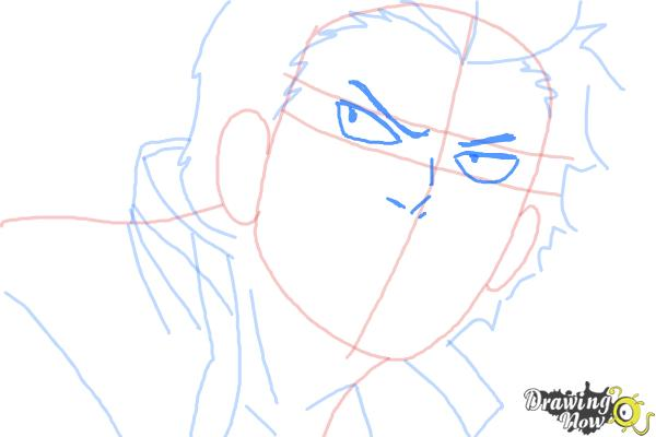 How to Draw Ryuji Suguro, Ban from Ao No Exorcist, Blue Exorcist - Step 7