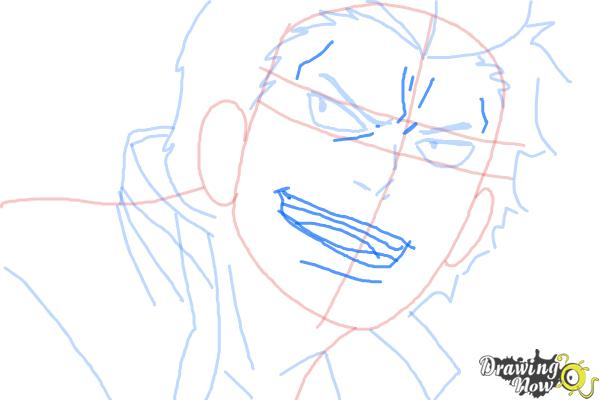 How to Draw Ryuji Suguro, Ban from Ao No Exorcist, Blue Exorcist - Step 8