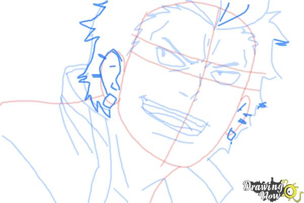 How to Draw Ryuji Suguro, Ban from Ao No Exorcist, Blue Exorcist - Step 9