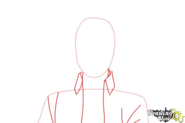 How to Draw Renzo Shima from Ao No Exorcist, Blue Exorcist - Step 2