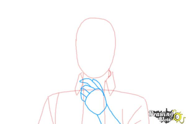 How to Draw Renzo Shima from Ao No Exorcist, Blue Exorcist - Step 3