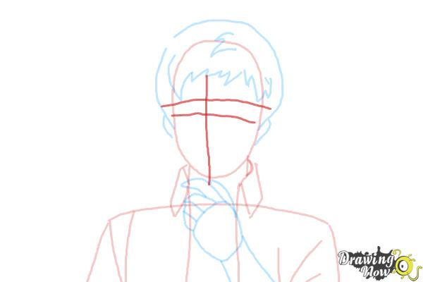 How to Draw Renzo Shima from Ao No Exorcist, Blue Exorcist - Step 5
