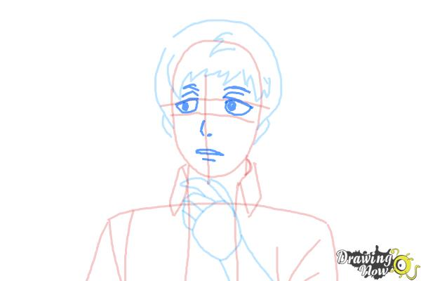 How to Draw Renzo Shima from Ao No Exorcist, Blue Exorcist - Step 6