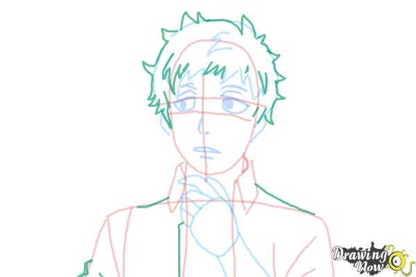 How to Draw Renzo Shima from Ao No Exorcist, Blue Exorcist - Step 7