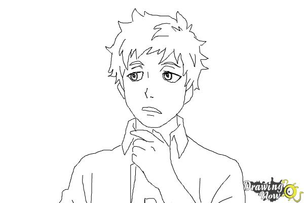 How to Draw Renzo Shima from Ao No Exorcist, Blue Exorcist - Step 8