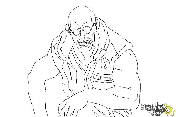 How to Draw Dutch from Black Lagoon - Step 10